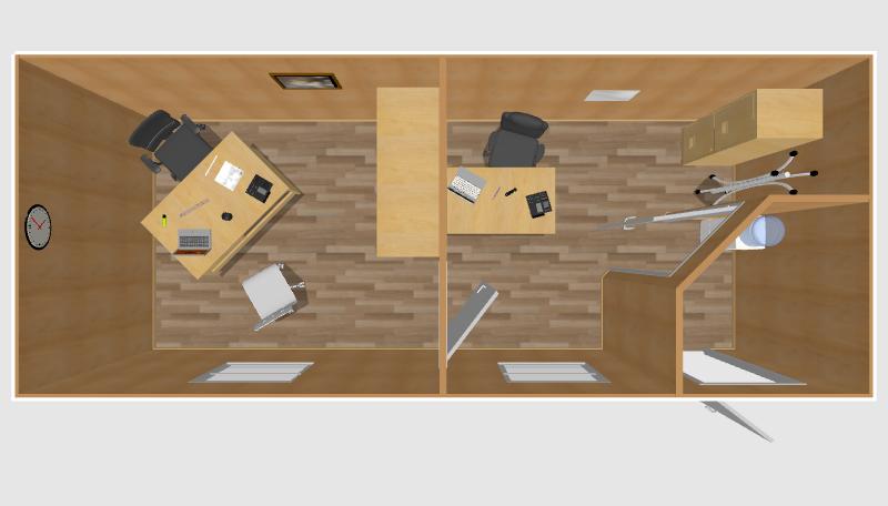 Офис с приёмной 6х2,4м