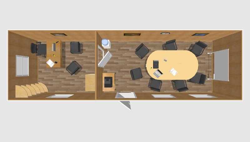 Офис с переговорной 8х2,4м