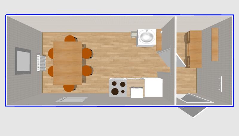Столовая на 6 мест 6х2,4