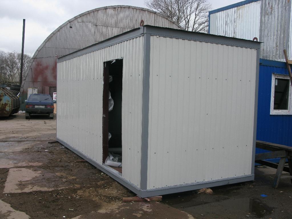 Недорогая модель металлического блок-контейнера