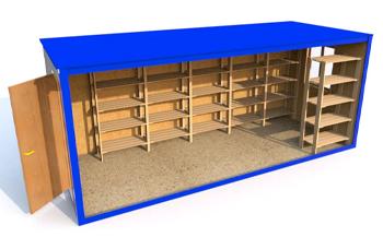 Быстровозводимые складские помещения из блок-контейнеров