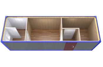 Блок контейнер распашонка