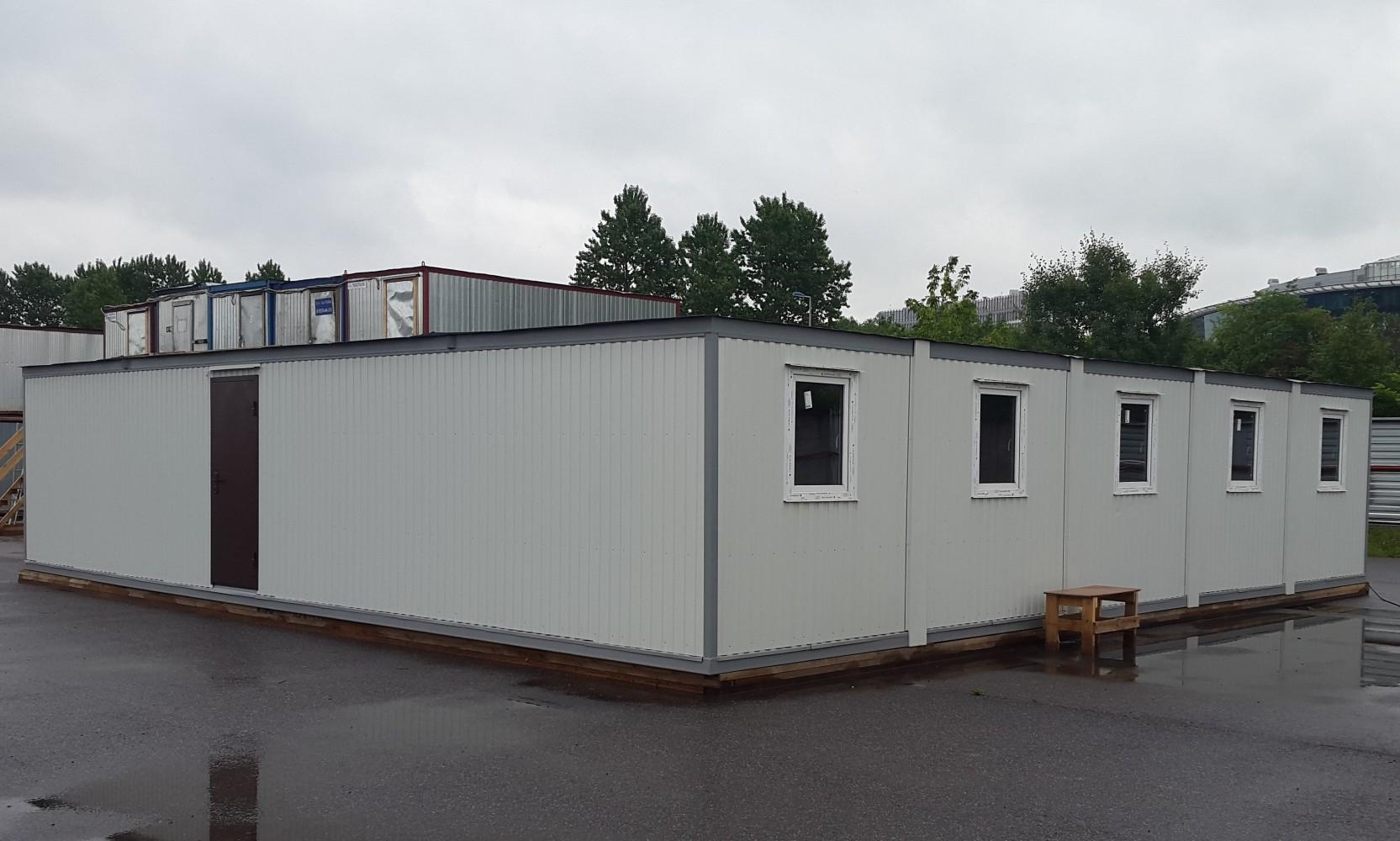 Модульное одноэтажное здание из 4 блок-контейнеров 6000*2400*2500мм