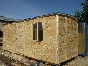 Дачный блок-контейнер с большим окном