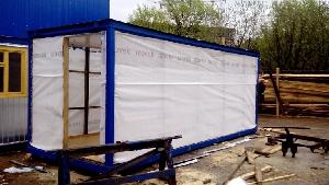 Зимний утепленный блок-контейнер