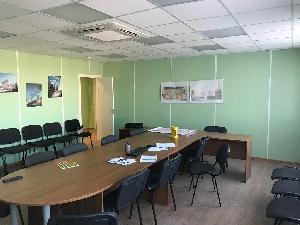 Модульный штаб строительства Golden City, Васильевский остров