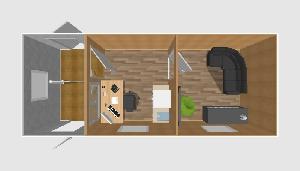 Проходная с комнатой отдыха 6,0х2,4 м