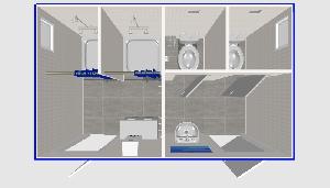 Туалет 4х2,4м, с душевой