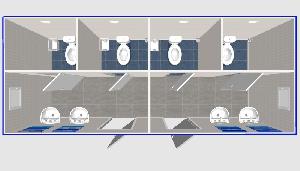 Туалеты с умывальниками 6,0х2,4м