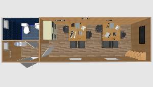 Офис с санузлом 8х2,4м