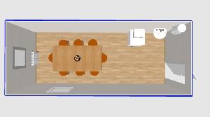 Столовая на 8 мест 6х2,4