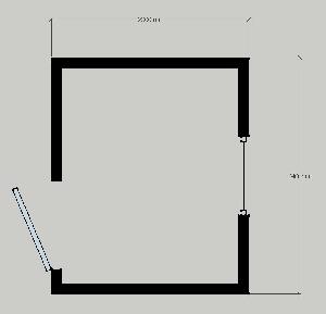 Бытовка сборно-разборная СРБК-2 2,0х2,4 м
