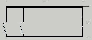 Бытовка строительная БК-2 (с тамбуром) 6,0х2,4 м