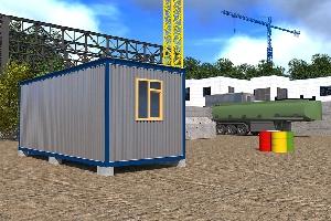 Бытовка строительная БК-1 (без перегородок) 6,0х2,4 м, фото №6