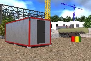 Бытовка строительная БКД-1 (без перегородок)  6,0х2,4 м