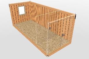 Бытовка строительная БКД-2 (с тамбуром) 6,0х2,4 м, фото №8