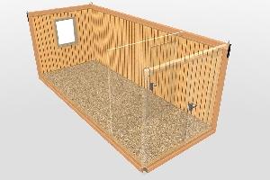 Бытовка строительная БКД-2 (с тамбуром) 6,0х2,4 м, фото №6
