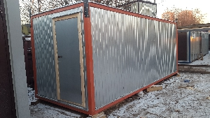 Бытовка строительная БКД-2 (с тамбуром) 6,0х2,4 м, фото №11