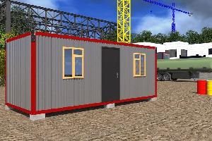 Бытовка строительная БКД-3 (2 перегородки) 6,0х2,4 м