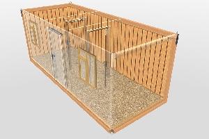 Бытовка строительная БКД-3 (2 перегородки) 6,0х2,4 м, фото №5