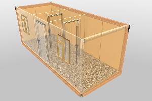 Бытовка строительная БКД-3 (2 перегородки) 6,0х2,4 м, фото №2