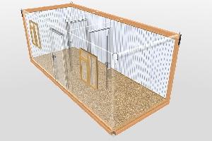 Бытовка строительная БКД-3 (2 перегородки) 6,0х2,4 м, фото №3