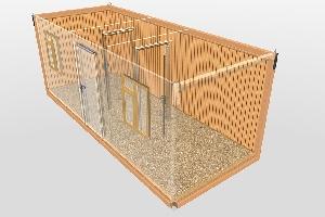 Бытовка строительная БКД-3 (2 перегородки) 6,0х2,4 м, фото №4